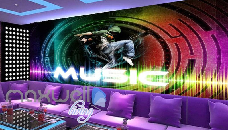Bright Colour Music Party Sound Design Art Wall Murals Wallpaper Decals Prints Decor IDCWP-JB-000066