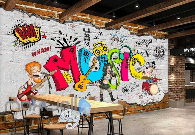 Animated Band Music Cartoon Comic Art Wall Murals