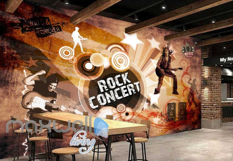 Image of Rock Concert Musician Jumping Art Art Wall Murals Wallpaper Decals Prints Decor IDCWP-JB-000081