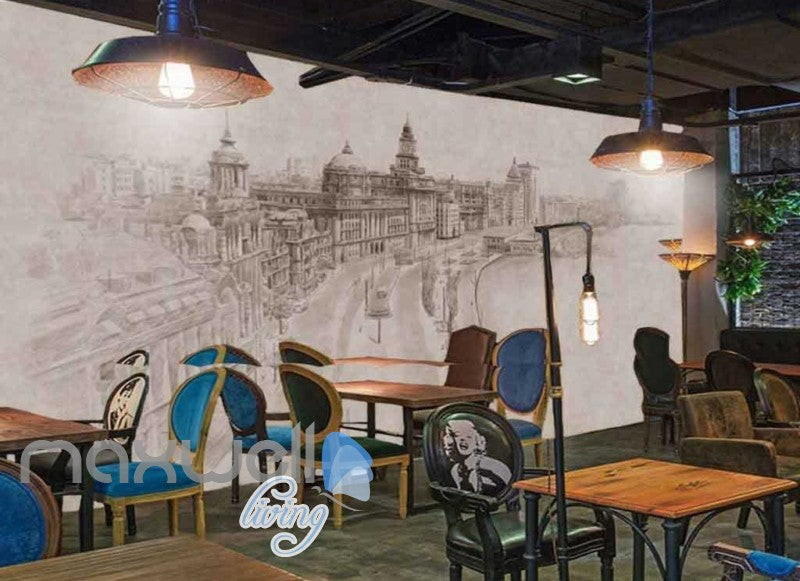 Victorian Drawing London City Design Art Wall Murals Wallpaper Decals Prints Decor IDCWP-JB-000085