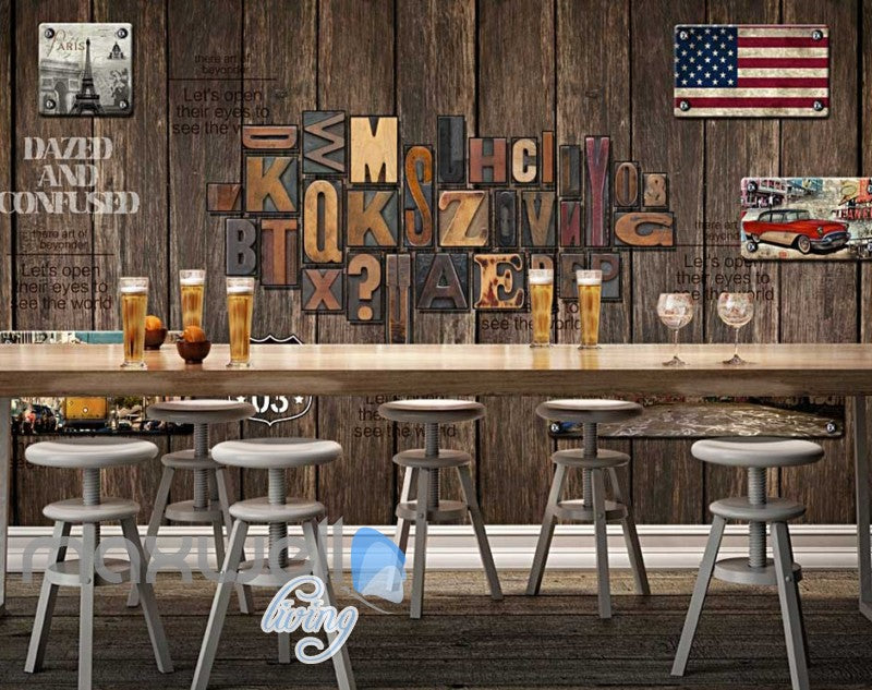 World Travel Letter Wood Wall Mural Art Wall Murals Wallpaper Decals Prints Decor IDCWP-JB-000094