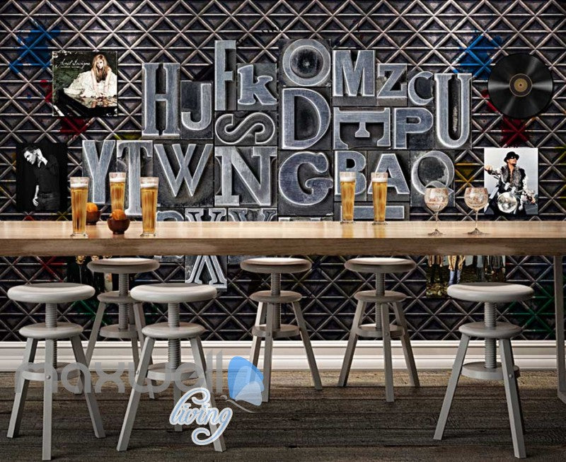 Metal Letter Layout Music Bands Design Art Wall Murals Wallpaper Decals Prints Decor IDCWP-JB-000098