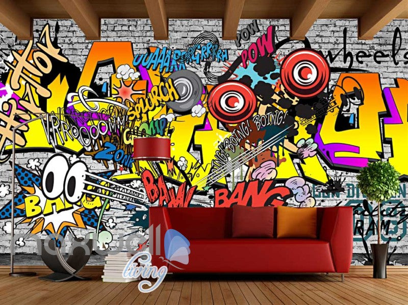 Graffiti Comic Sounds Colour Wall Art Art Wall Murals Wallpaper Decals Prints Decor IDCWP-JB-000099