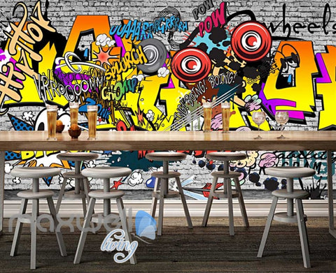 Image of Graffiti Comic Sounds Colour Wall Art Art Wall Murals Wallpaper Decals Prints Decor IDCWP-JB-000099