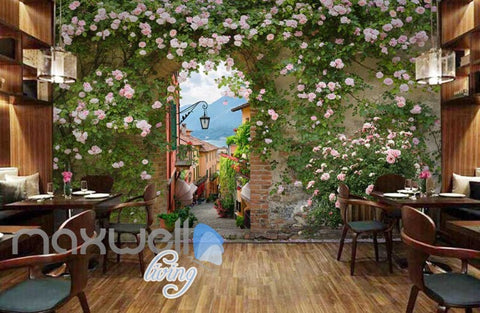 Image of Venice Caf?View Lake Picture Art Wall Murals Wallpaper Decals Prints Decor IDCWP-JB-000101