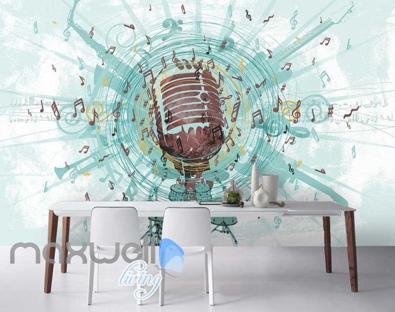 Music Mic Notes Explosion Poster Art Wall Murals Wallpaper Decals Prints Decor IDCWP-JB-000106