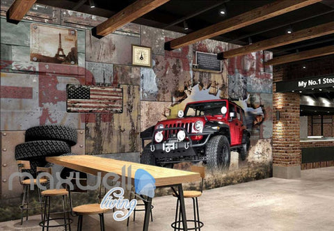 Image of Jeep World Travel Breakthrough Art Wall Murals Wallpaper Decals Prints Decor IDCWP-JB-000108