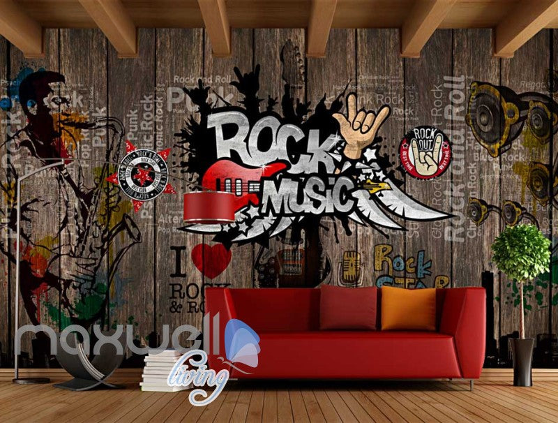 Rock Music Sticker Wall  Art Wall Murals Wallpaper Decals Prints Decor IDCWP-JB-000110