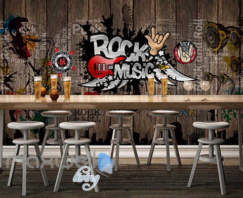 Image of Rock Music Sticker Wall  Art Wall Murals Wallpaper Decals Prints Decor IDCWP-JB-000110