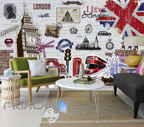 Image of London Classic Bigben England Art Wall Murals Wallpaper Decals Prints Decor IDCWP-JB-000111