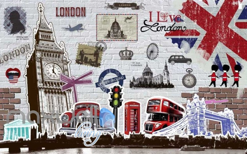 London Classic Bigben England Art Wall Murals Wallpaper Decals Prints Decor IDCWP-JB-000111