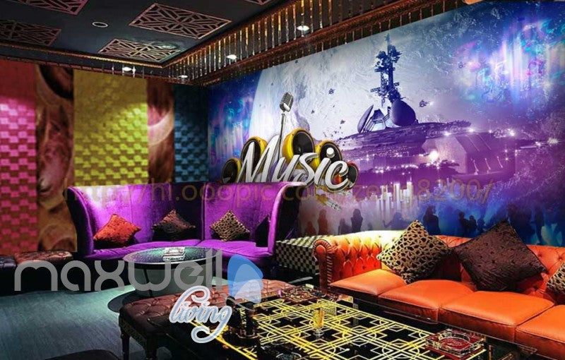 Space Music  Concert Dancefloor Art Wall Murals Wallpaper Decals Prints Decor IDCWP-JB-000118
