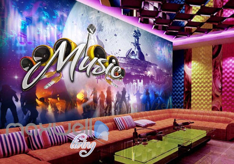 Image of Space Music  Concert Dancefloor Art Wall Murals Wallpaper Decals Prints Decor IDCWP-JB-000118