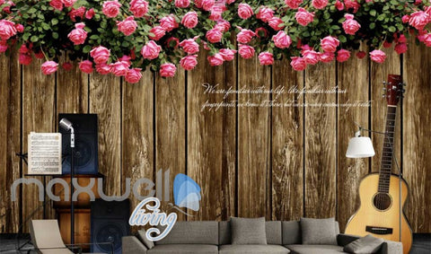 Image of Music Stage Flowers Instruments Art Wall Murals Wallpaper Decals Prints Decor IDCWP-JB-000122