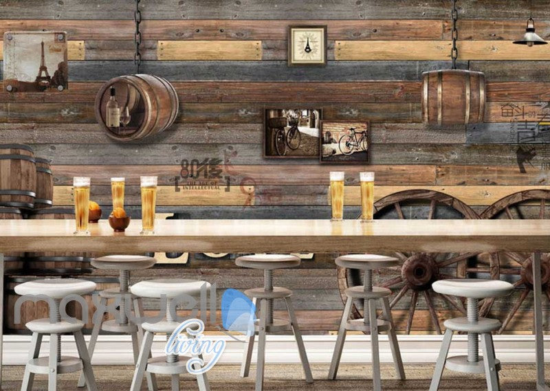 World Barrel Wood Love Design Art Wall Murals Wallpaper Decals Prints Decor IDCWP-JB-000139
