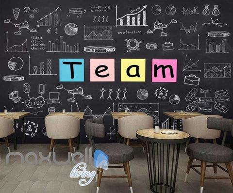 Image of Black Board Team Statistics Art Wall Murals Wallpaper Decals Prints Decor IDCWP-JB-000149
