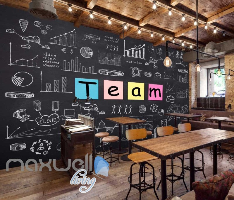 Black Board Team Statistics Art Wall Murals Wallpaper Decals Prints Decor IDCWP-JB-000149