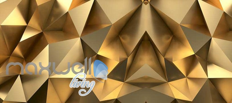 Gold Optical Illusion Design Art Wall Murals Wallpaper Decals Prints Decor IDCWP-JB-000151