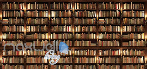 Library Book Collection Shelves Art Wall Murals Wallpaper Decals Prints Decor IDCWP-JB-000157