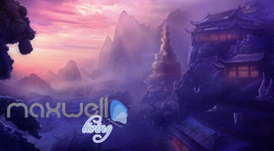 Ancient Chinese House Sunset Mountains Art Wall Murals Wallpaper Decals Prints Decor IDCWP-JB-000160