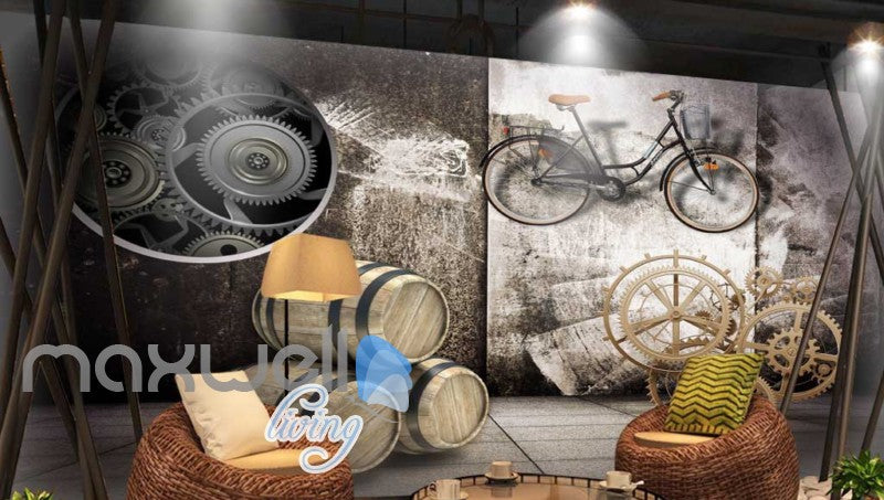 Barrel Bike Display Collection Art Wall Murals Wallpaper Decals Prints Decor IDCWP-JB-000161