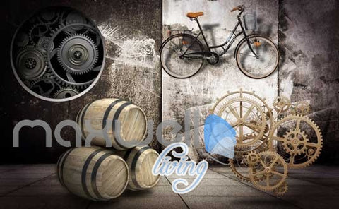 Image of Barrel Bike Display Collection Art Wall Murals Wallpaper Decals Prints Decor IDCWP-JB-000161