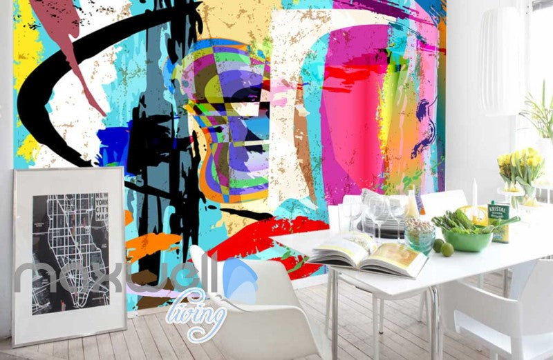 Paint Colour Splash Design Art Wall Murals Wallpaper Decals Prints Decor IDCWP-JB-000163
