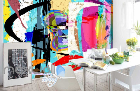 Image of Paint Colour Splash Design Art Wall Murals Wallpaper Decals Prints Decor IDCWP-JB-000163