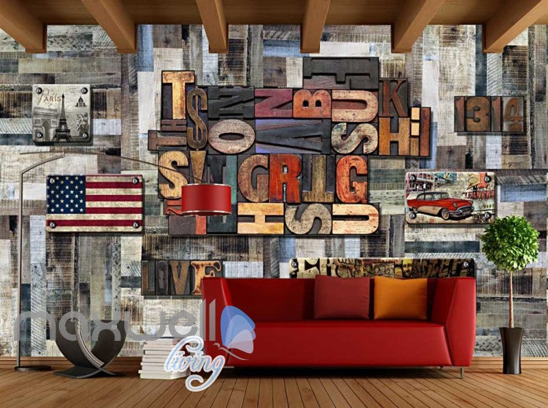 World Letter Collection Metal Wall Art Wall Murals Wallpaper Decals Prints Decor IDCWP-JB-000172