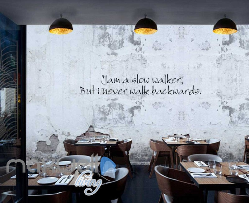 Stone Wall Decay Motivational Quote Art Wall Murals Wallpaper Decals