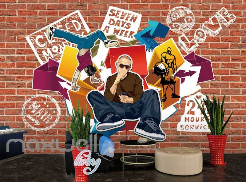 Music Hip Hop Wall Graffiti Art Wall Murals Wallpaper Decals Prints Decor IDCWP-JB-000197