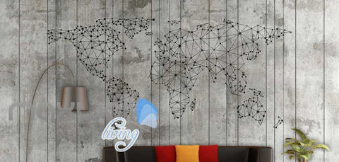 Image of Old Wall World  Map Art Wall Murals Wallpaper Decals Prints Decor IDCWP-JB-000208