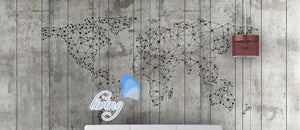 Old Wall World  Map Art Wall Murals Wallpaper Decals Prints Decor IDCWP-JB-000208