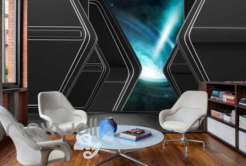 View Of Space Wormhole Art Wall Murals Wallpaper Decals Prints Decor IDCWP-JB-000219