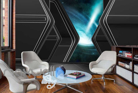Image of View Of Space Wormhole Art Wall Murals Wallpaper Decals Prints Decor IDCWP-JB-000219