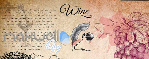 Image of Old Wallpaper Design With Wine Art Wall Murals Wallpaper Decals Prints Decor IDCWP-JB-000240