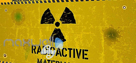 Image of Painted Radioactive Material Sign Yellow Wall Art Wall Murals Wallpaper Decals Prints Decor IDCWP-JB-000242