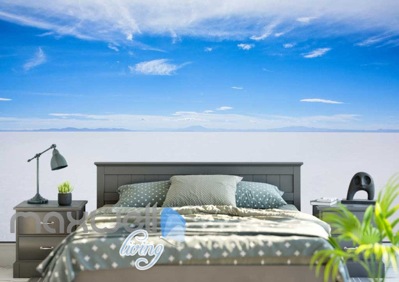 Blue And White Salar De Uyuni Photograph  Art Wall Murals Wallpaper Decals Prints Decor IDCWP-JB-000258