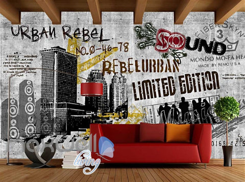 Image of Black And White Urban Rebel Poster Art Wall Murals Wallpaper Decals Prints Decor IDCWP-JB-000260