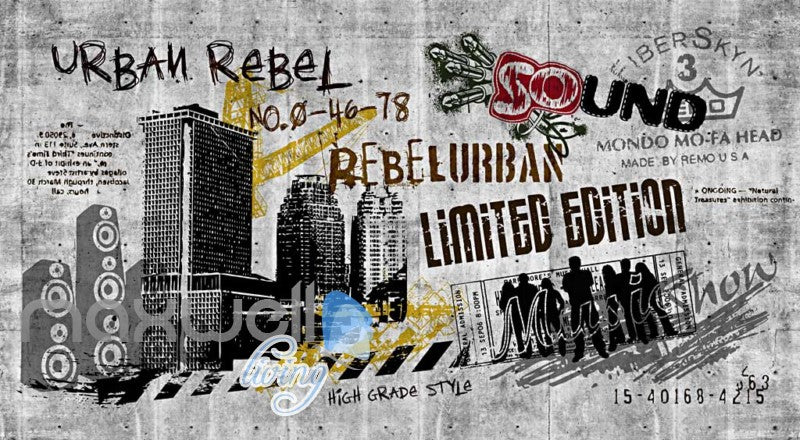 Black And White Urban Rebel Poster Art Wall Murals Wallpaper Decals Prints Decor IDCWP-JB-000260