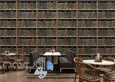 Image of Library Shelves Art Wall Murals Wallpaper Decals Prints Decor IDCWP-JB-000261