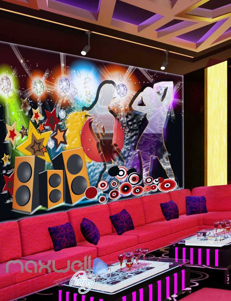 Poster Of Transparent Silhoutte Girls Dancing  Art Wall Murals Wallpaper Decals Prints Decor IDCWP-JB-000264