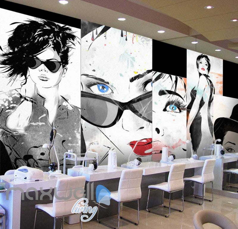 Design Women Collage Graphic Art Print Art Wall Murals Wallpaper Decals Prints Decor IDCWP-JB-000269