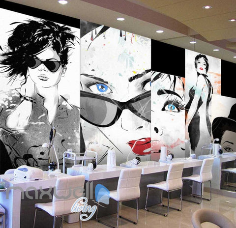 Image of Design Women Collage Graphic Art Print Art Wall Murals Wallpaper Decals Prints Decor IDCWP-JB-000269