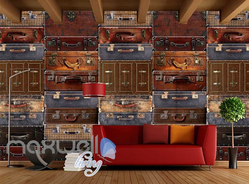 Wallpaper Luggage On Wall Poster Art Wall Murals Wallpaper Decals Prints Decor IDCWP-JB-000276