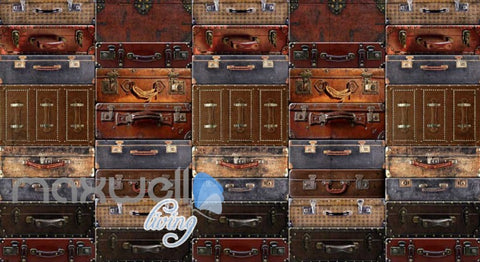 Image of Wallpaper Luggage On Wall Poster Art Wall Murals Wallpaper Decals Prints Decor IDCWP-JB-000276