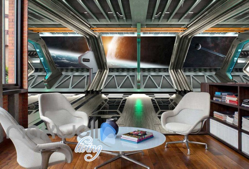View Space From A Spaceship Art Wall Murals Wallpaper Decals Prints Decor IDCWP-JB-000278