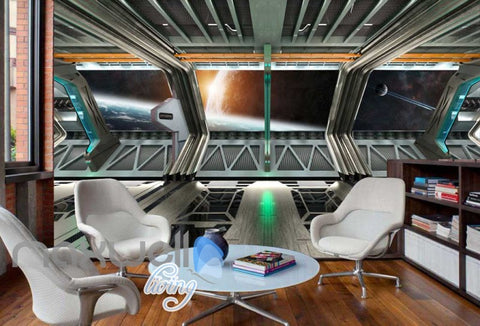 Image of View Space From A Spaceship Art Wall Murals Wallpaper Decals Prints Decor IDCWP-JB-000278