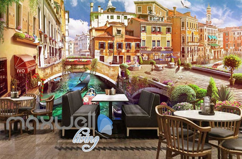 Image of Venice Italy Graphic Art Design Wallpaper Art Wall Murals Wallpaper Decals Prints Decor IDCWP-JB-000279