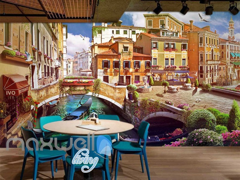 Venice Italy Graphic Art Design Wallpaper Art Wall Murals Wallpaper Decals Prints Decor IDCWP-JB-000279